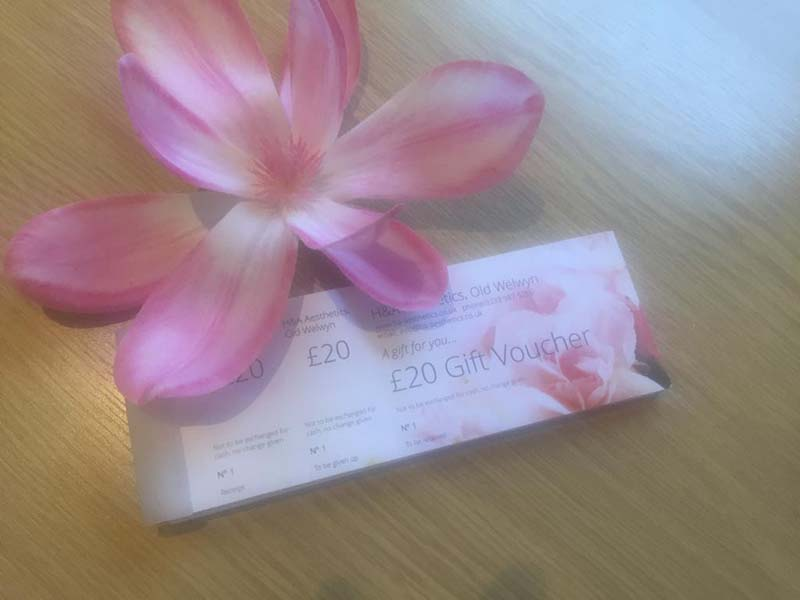 H & A Aesthetics Gift Vouchers Available